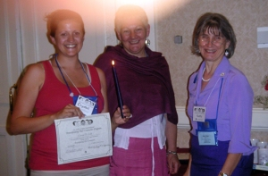 Crystal Gold completing Breastfeeding Peer Counselor Training in 2007