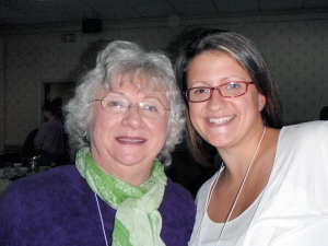 Marian Thompson, LLL Founder, and Crystal Gold, Nov 7, 2009