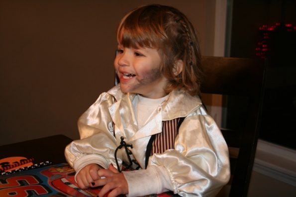 M as a Pirate, Halloween 2009