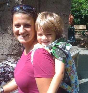 M and Mommy at the Zoo, September 2009