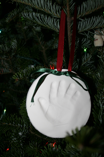 M's first ornament