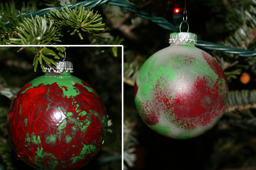 M's ornaments from when he was 1.5 years old