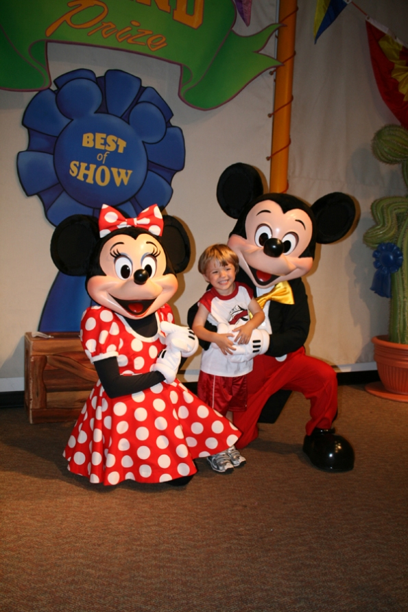 M Meeting Mickey and Minnie